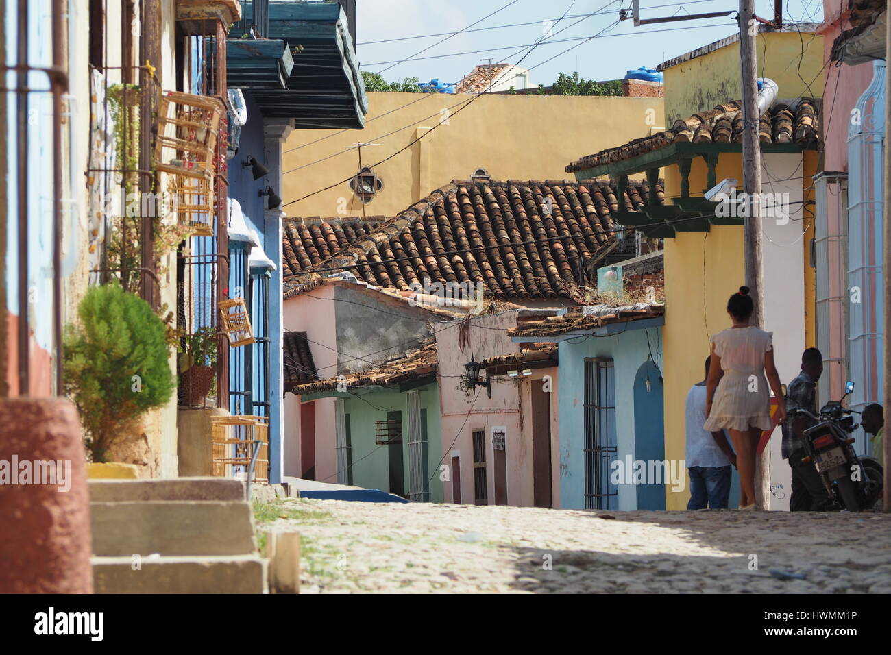 Cuban life, Trinidad, Cuba, Central America, West Indies - Stock Image