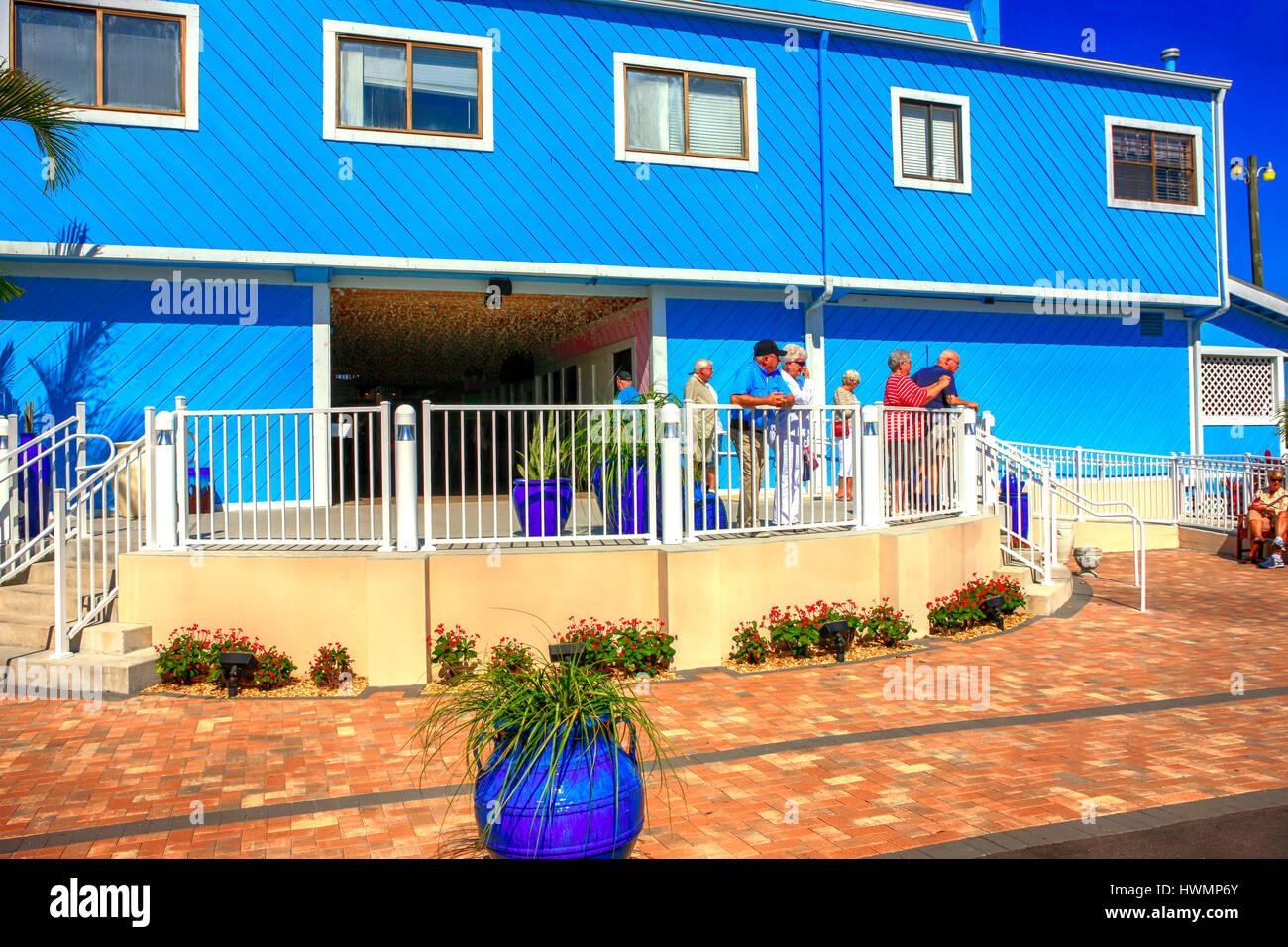 Fisherman's Village shopping center in Punta Gorda, Florida - Stock Image