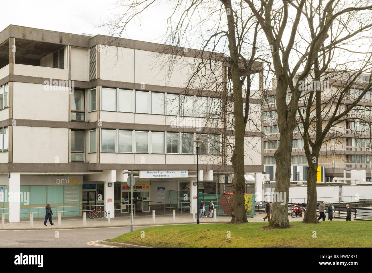 Aberdeen Royal Infirmary Main Entrance, NHS Grampion, Aberdeen, Scotland, UK - Stock Image