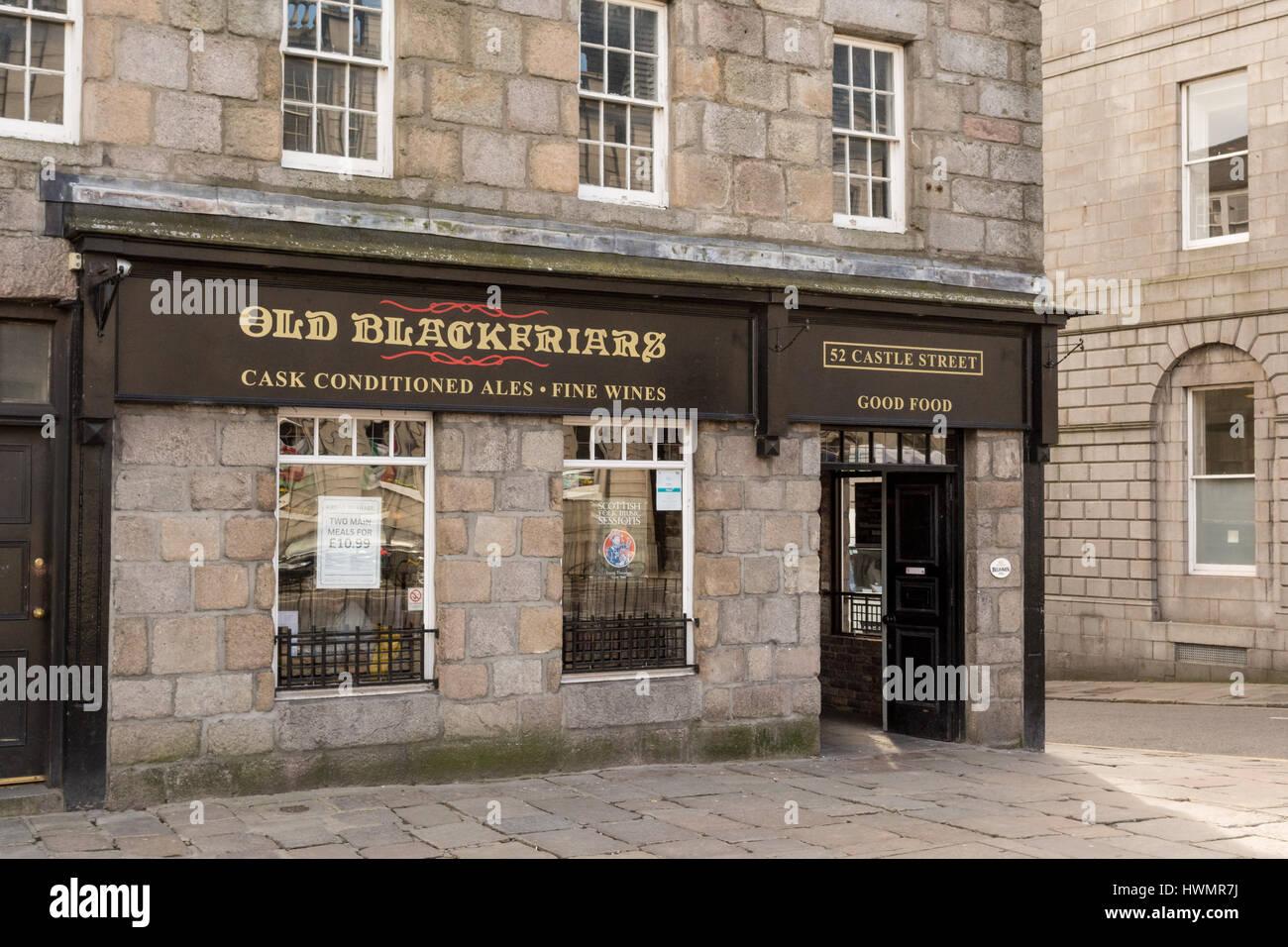 Old Blackfriars Pub, Castlegate, Aberdeen, Scotland, UK - Stock Image