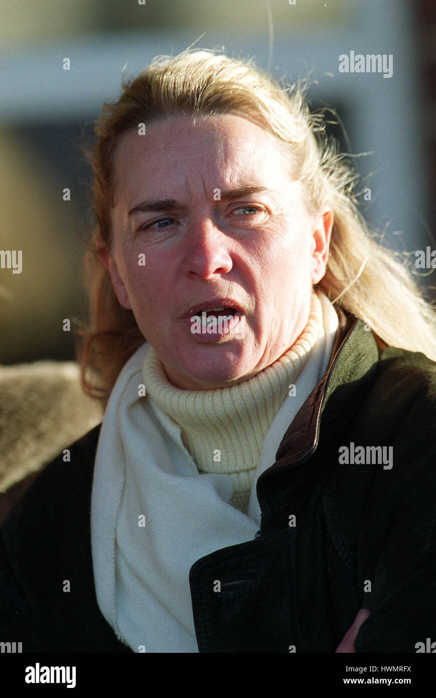 MRS S.J.SMITH RACE HORSE TRAINER 06 January 2000 - Stock Image