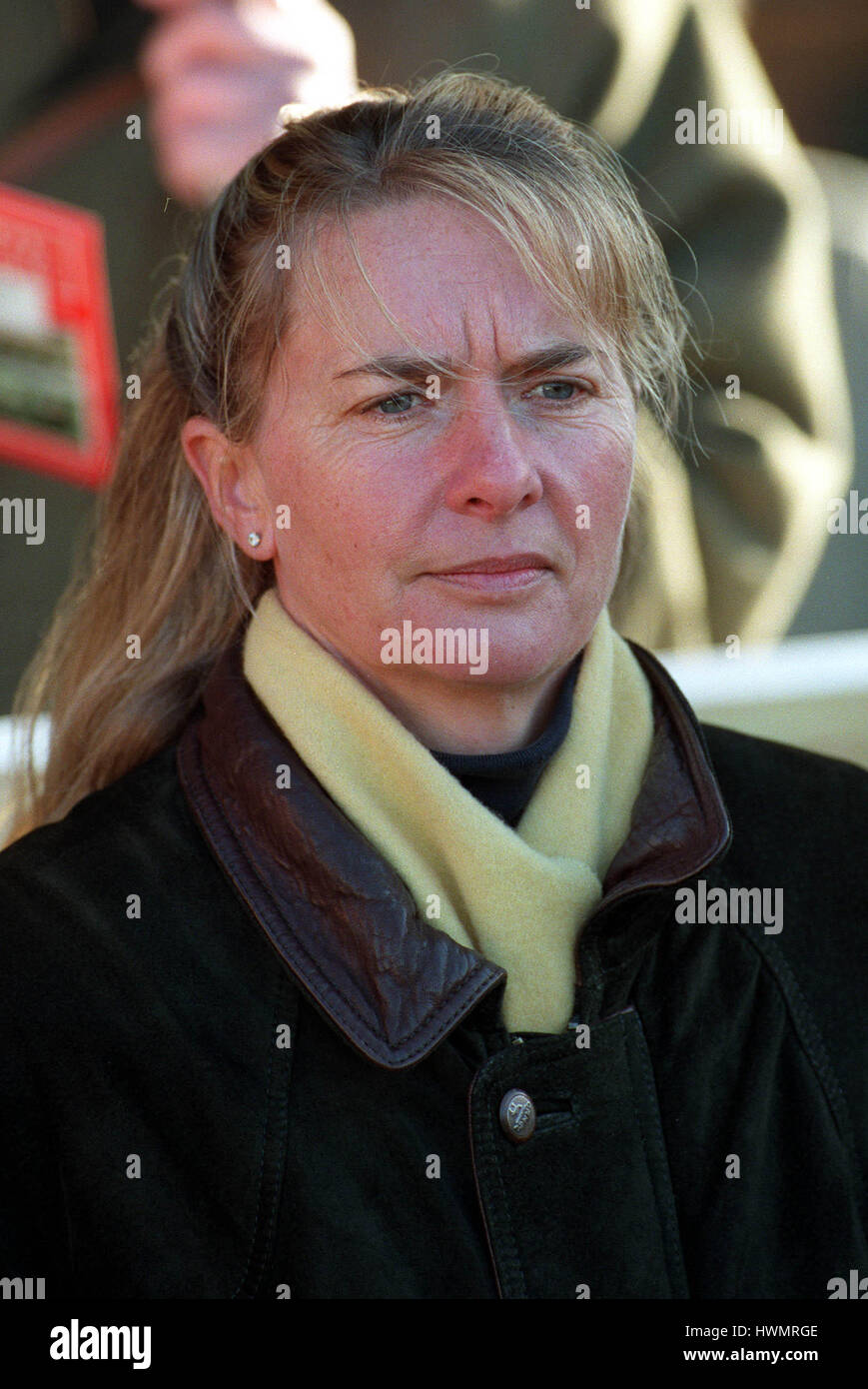 MRS S.J.SMITH RACE HORSE TRAINER 19 January 2000 - Stock Image
