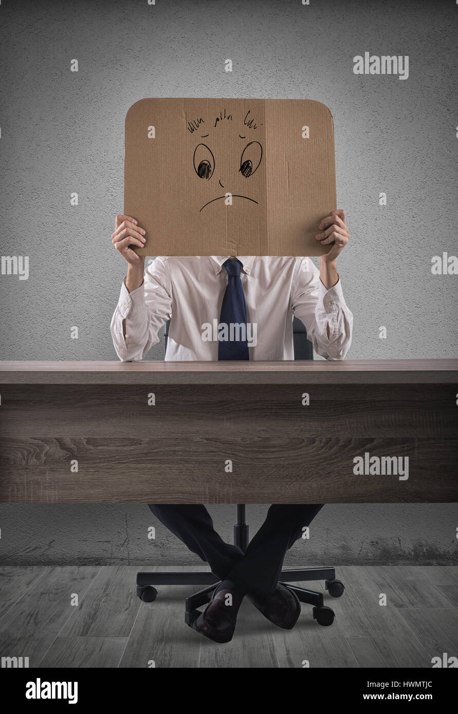 Negative businessman - Stock Image