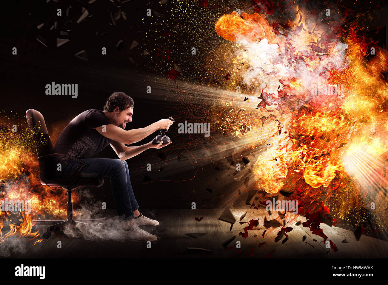 World of videogames - Stock Image