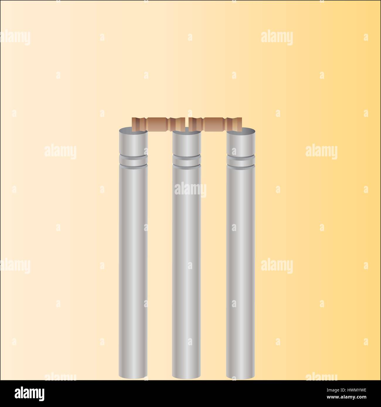 cricket wicket - Stock Vector