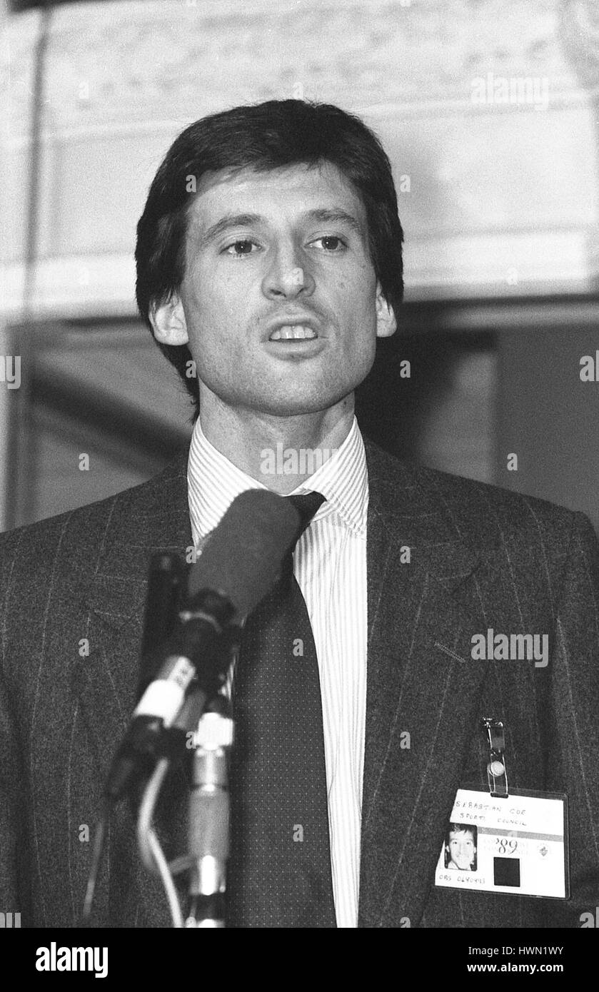 Sebastian Coe, former British athlete and Conservative party Parliamentary Candidate for Falmouth and Camborne, - Stock Image