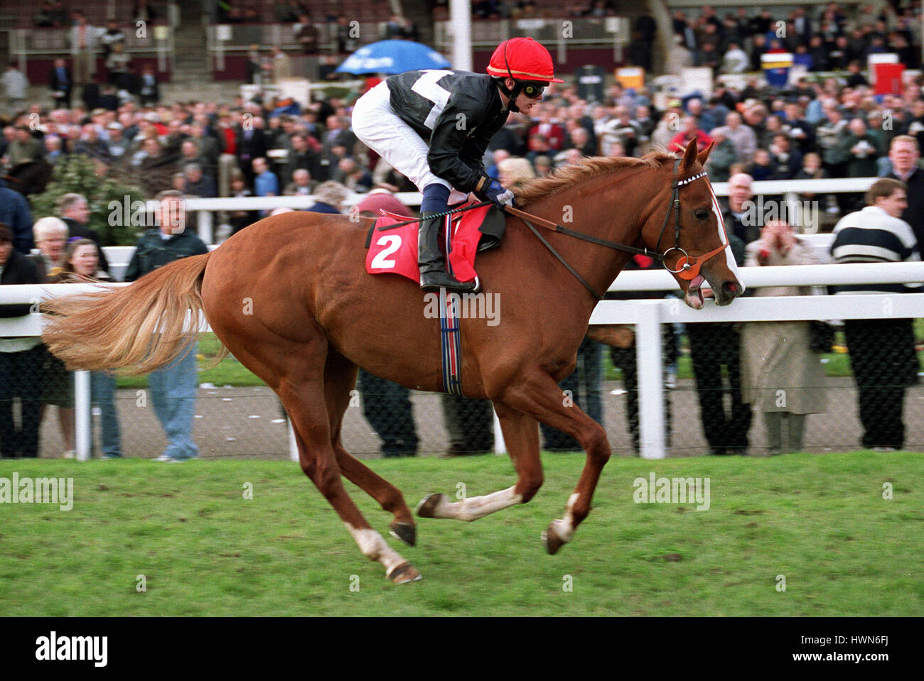 HURRICANE FLOYD RIDDEN BY A.NICHOLLS DONCASTER RACECOURSE DONCASTER 23 March 2002 - Stock Image