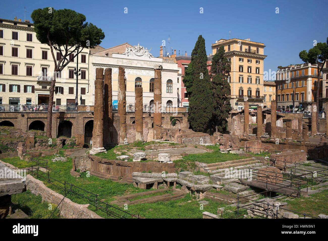 Italy, Lazio, Rome, historical centre listed as World Heritage by UNESCO, ruins, Area Sacra di Largo Argentina - Stock Image