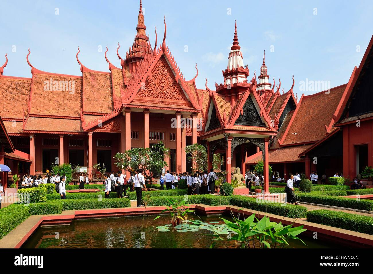 Cambodia, Phnom Penh, National Museum of Fine Arts - Stock Image