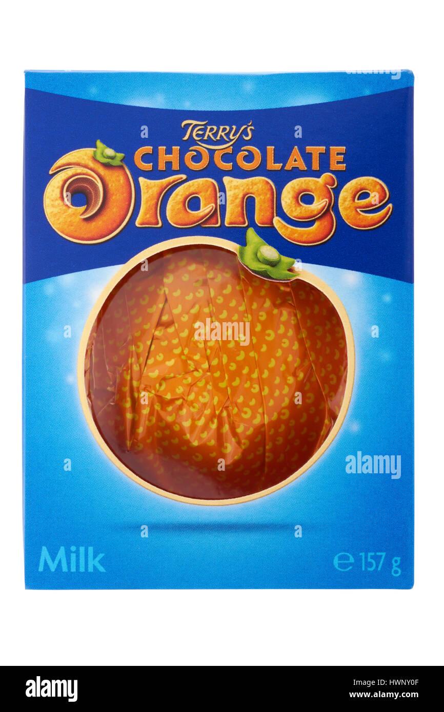 Terrys Chocolate Orange On White Background Stock Photo