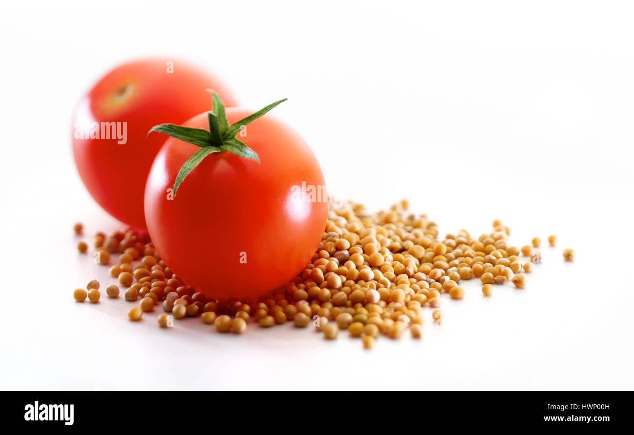 tomato and mustard - Stock Image