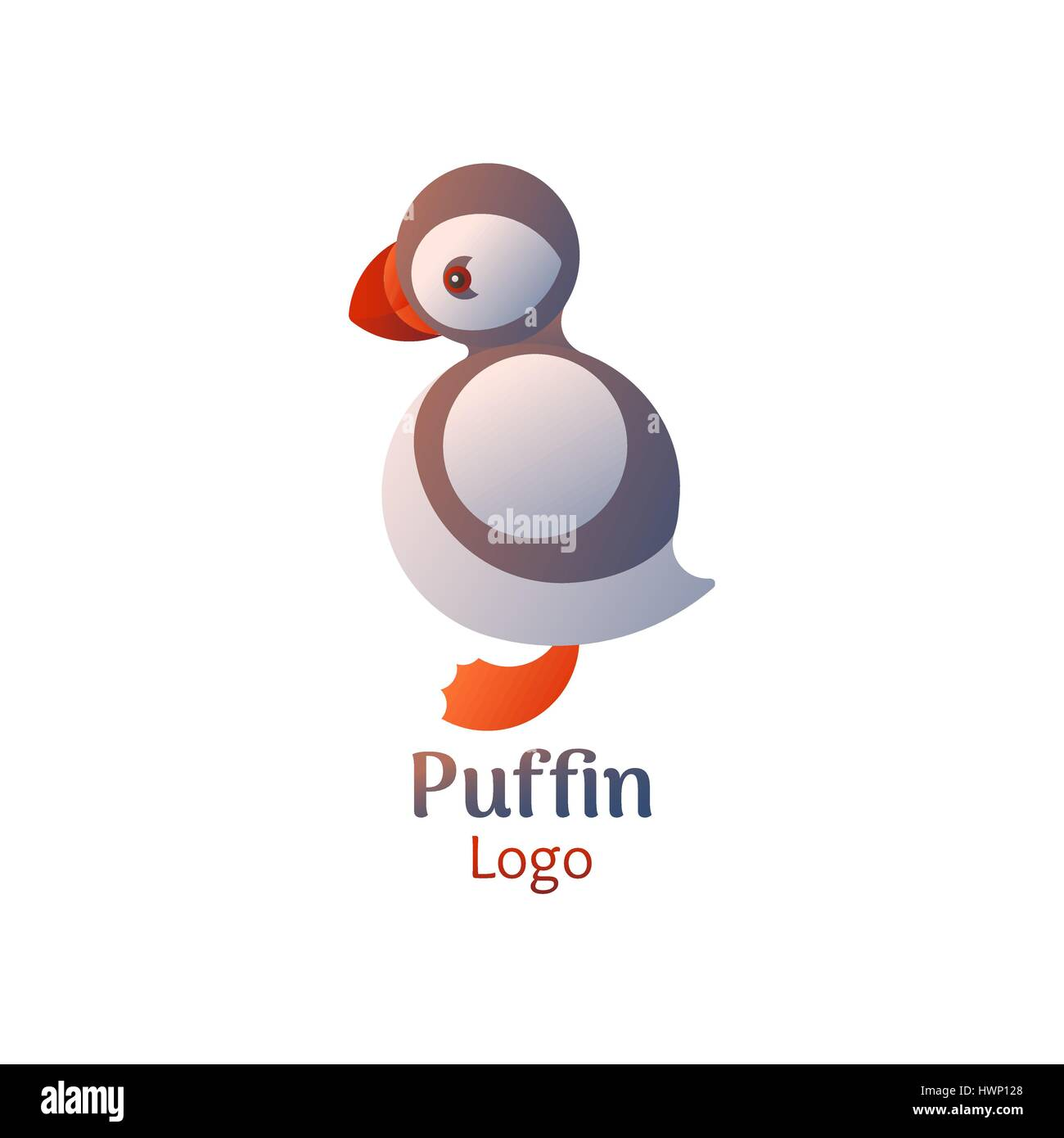 Puffin logo - Stock Vector