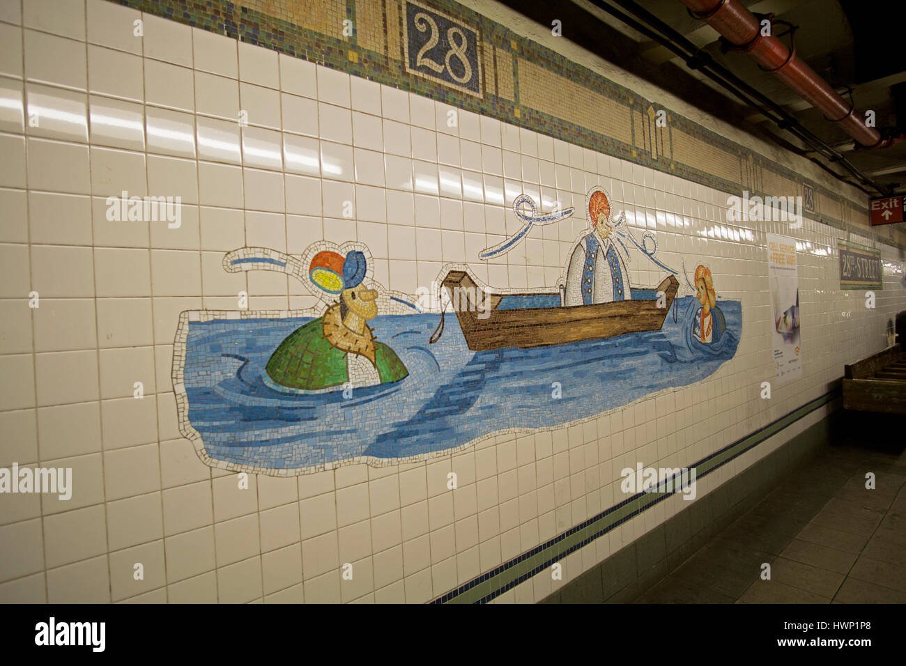 Subway Art On Platform 28th High Resolution Stock Photography And Images Alamy