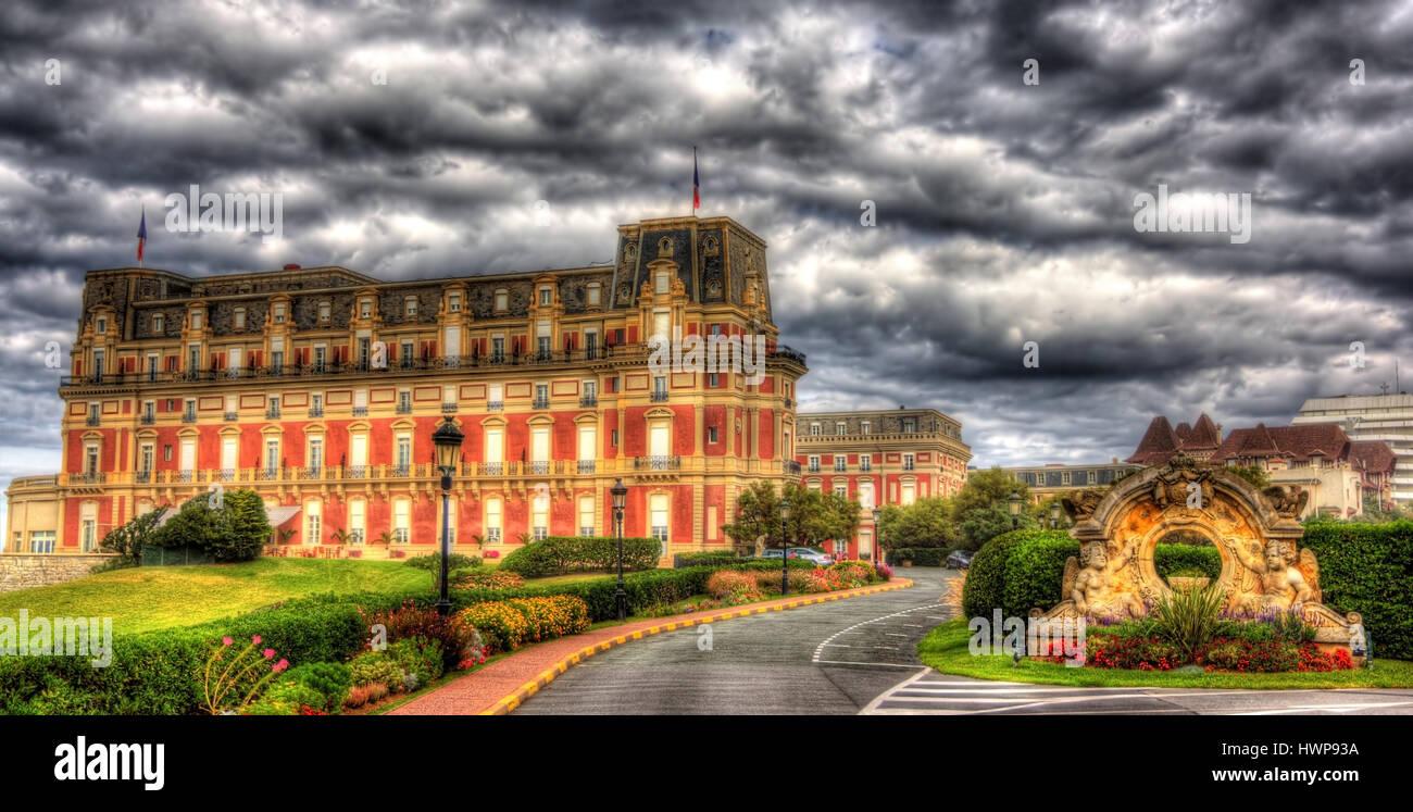 Hotel du Palais in Biarritz - France, Aquitaine - Stock Image