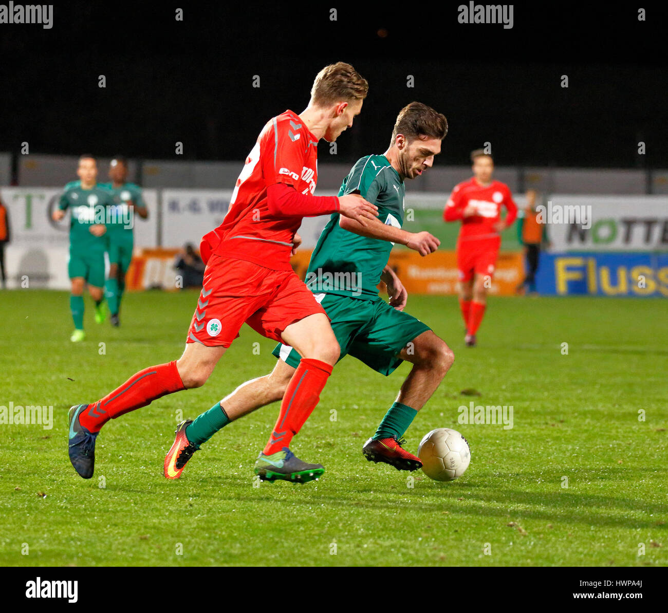 sports, football, Regional League West, 2016/2017, Rot Weiss Oberhausen vs SG Wattenscheid 09 1:0, Stadium Niederrhein - Stock Image