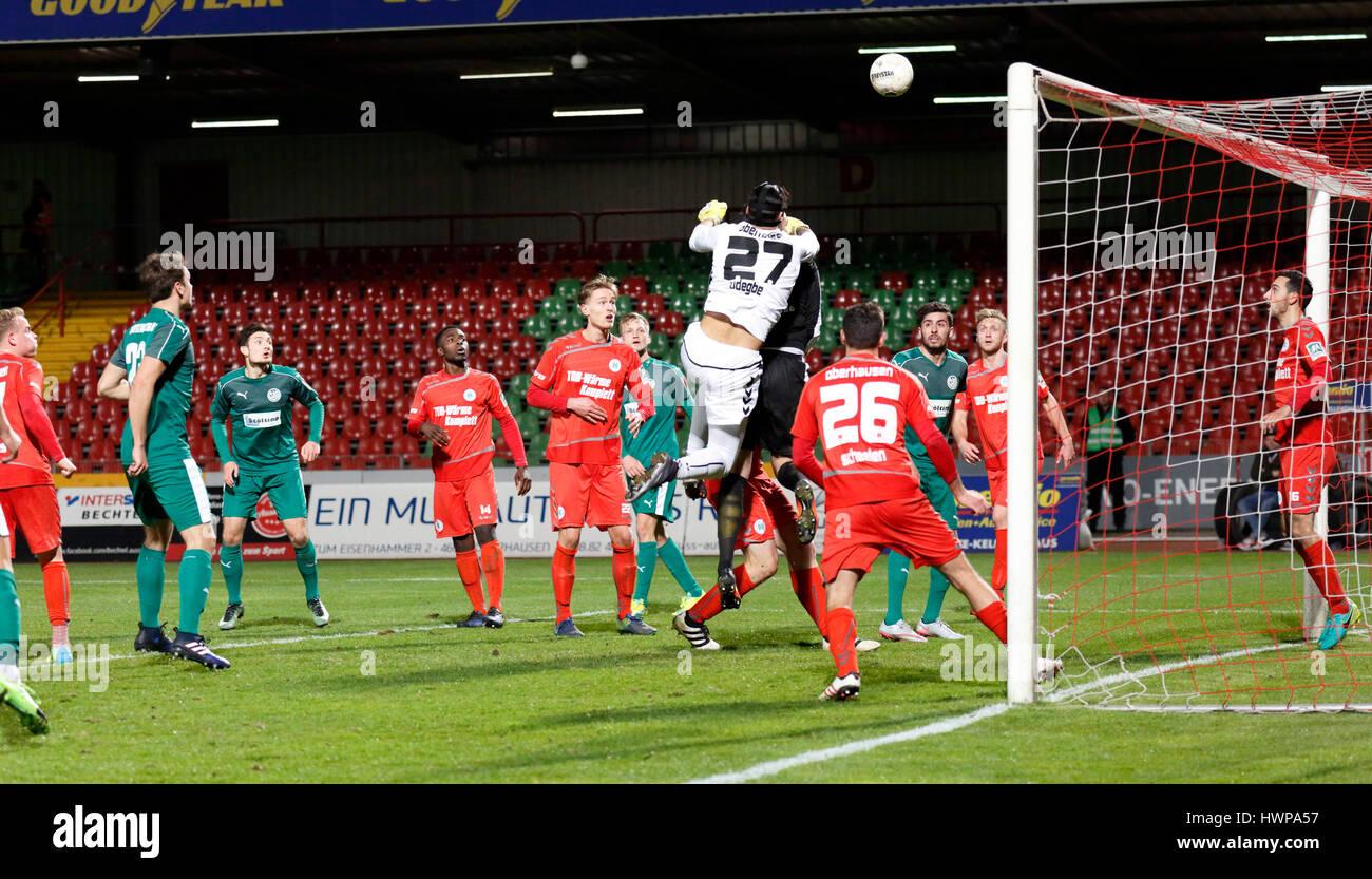 sports, football, Regional League West, 2016/2017, Rot Weiss Oberhausen vs SG Wattenscheid 09 1:0, Stadium Niederrhein Stock Photo