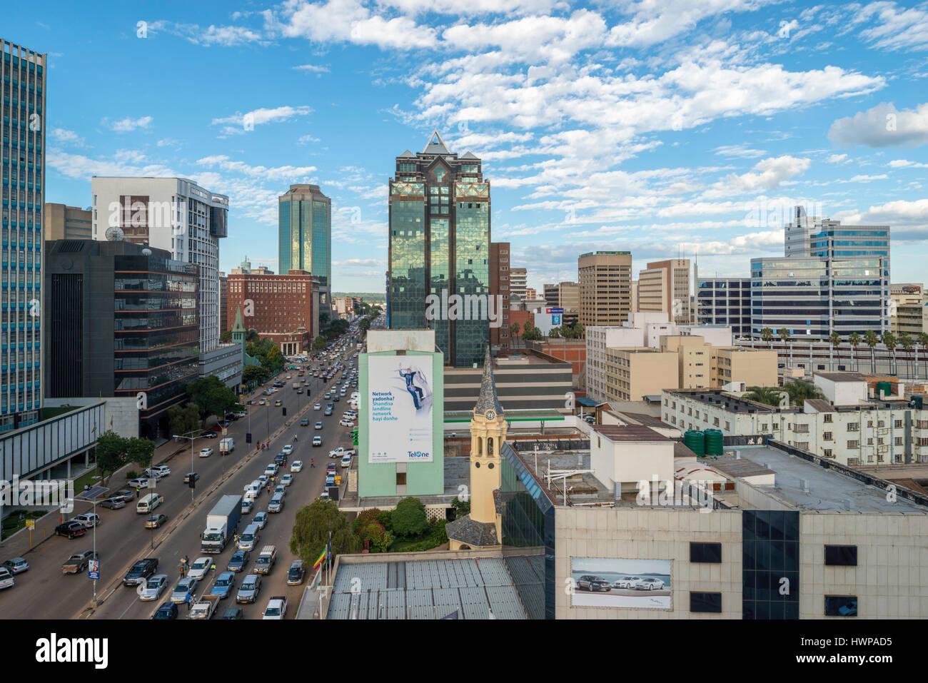 Harare is the capital city of Zimbabwe Stock Photo