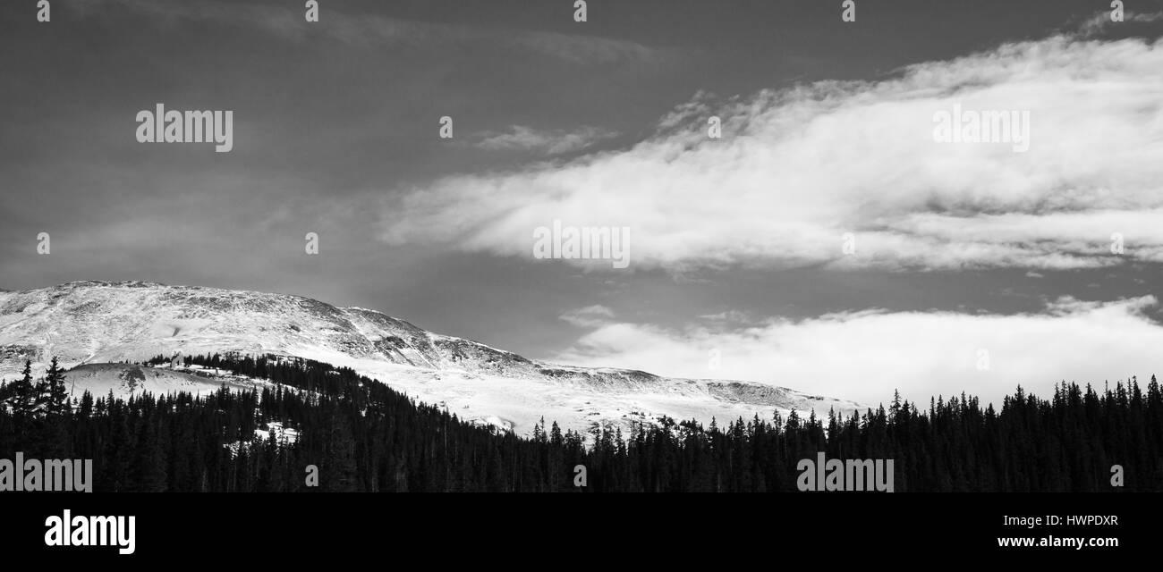 Loveland colorado ski mountain area snow - Stock Image