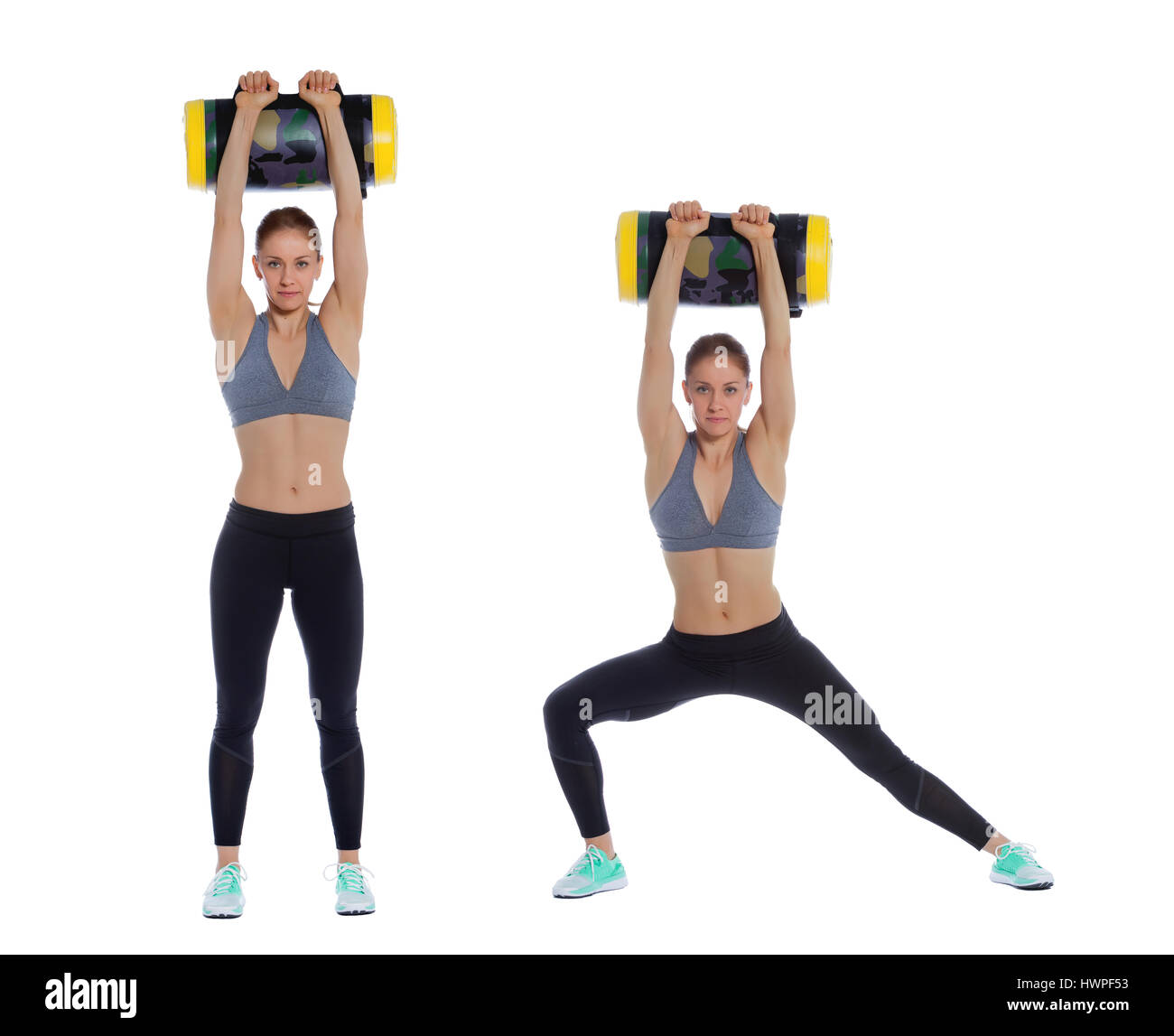 d149d9cc9df8 Core bag exercise executed with a professional trainer Stock Photo ...