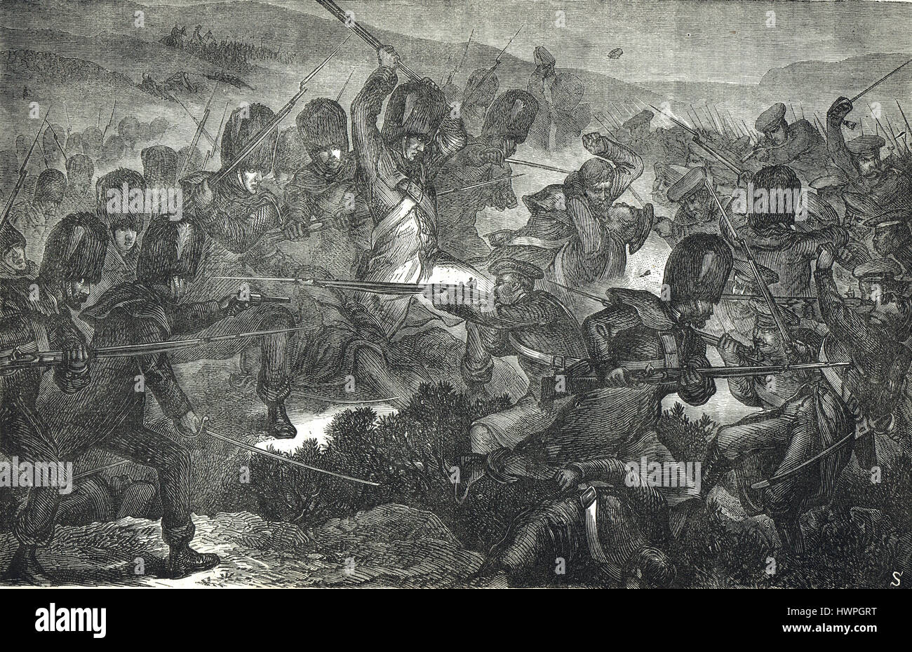 Charge of the Guards, The Battle of Inkerman, Crimean War, 5 November, 1854 - Stock Image