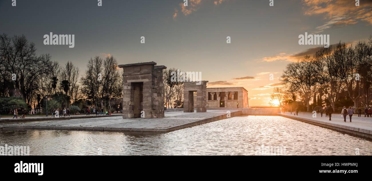 Templo de Debod - Stock Image