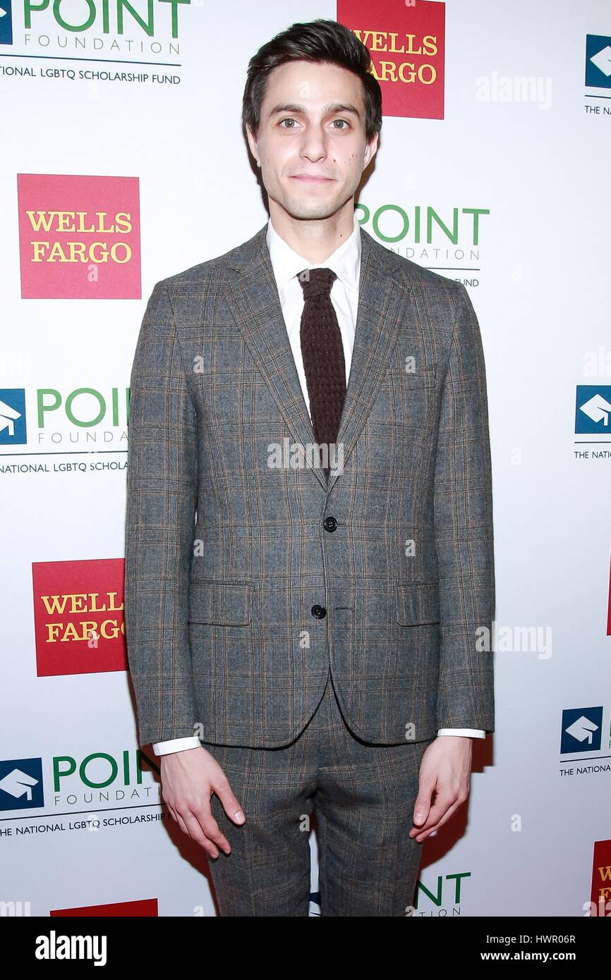 New York, NY, USA. 3rd Apr, 2017. Gideon Glick at arrivals for The Point Honors Gala, The Plaza Hotel, New York, - Stock Image