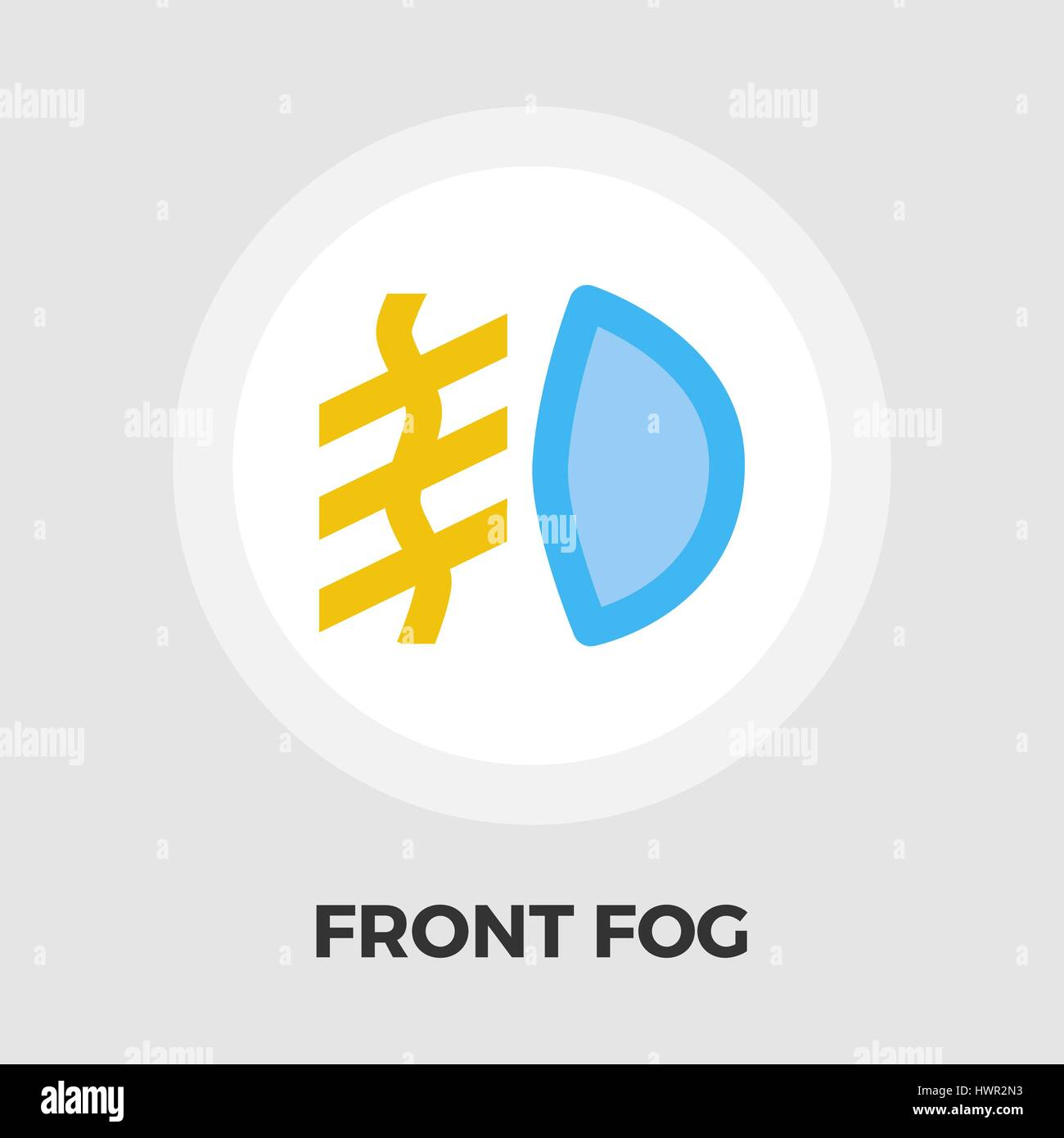 Front fog light icon vector. Flat icon isolated on the white background. Editable EPS file. Vector illustration. - Stock Vector