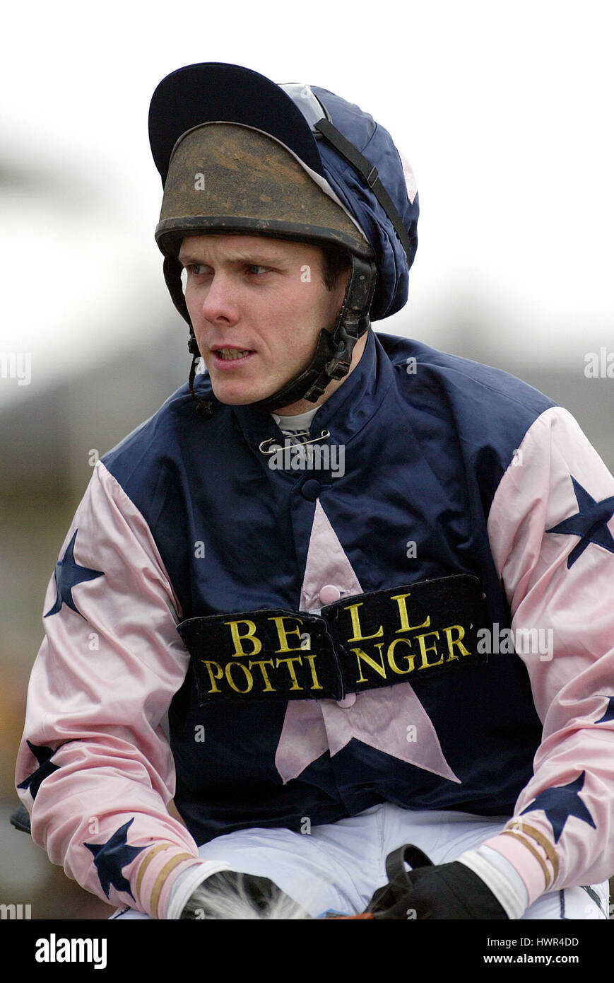 MATTHEW BATCHELOR JOCKEY DONCASTER RACECOURSE DONCASTER 12 January 2003 - Stock Image