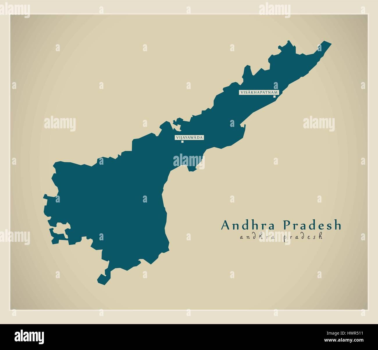Andhra Pradesh Map Stock Photos Amp Andhra Pradesh Map Stock