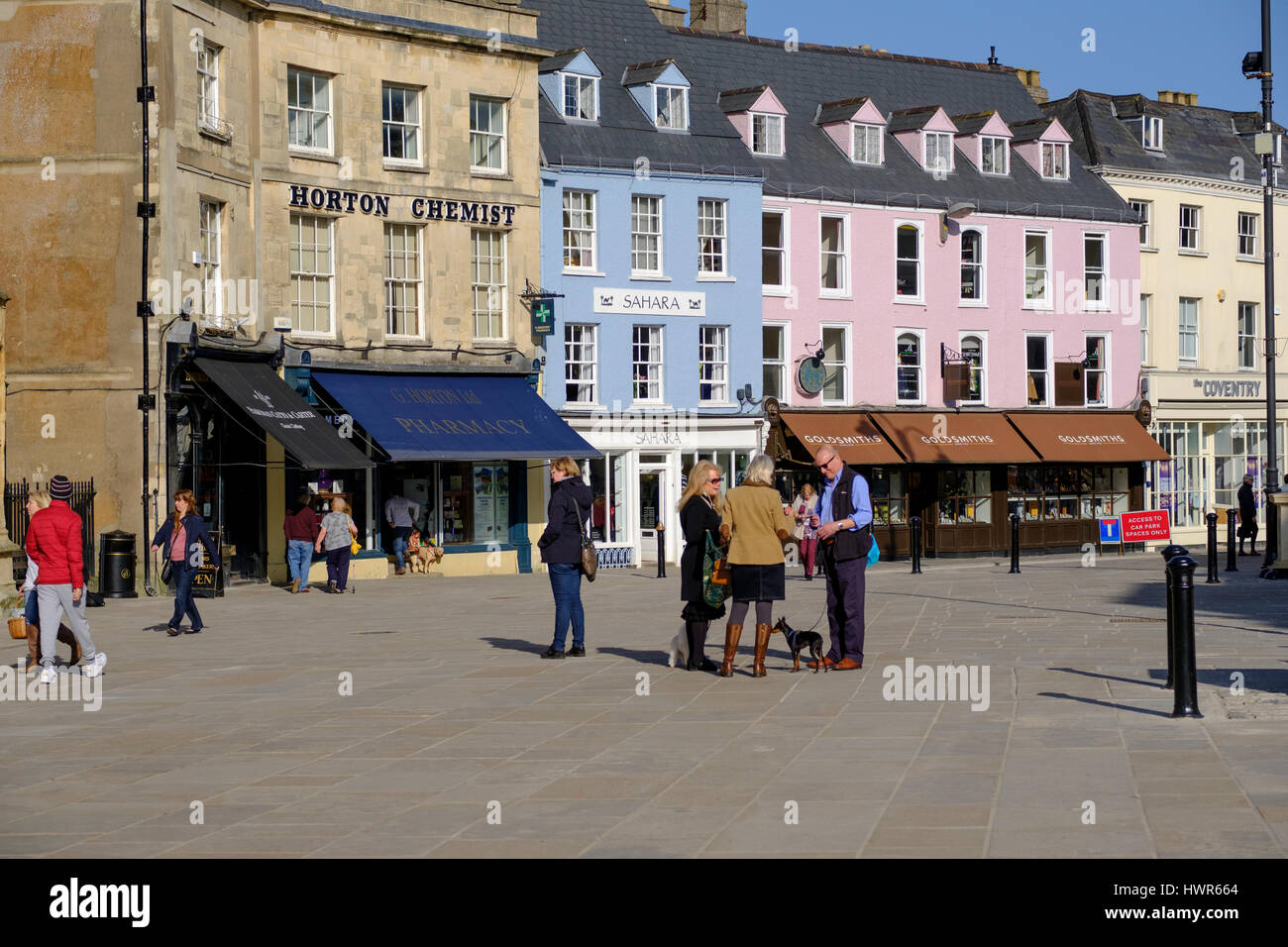 Shops in Cirencester town centre Stock Photo