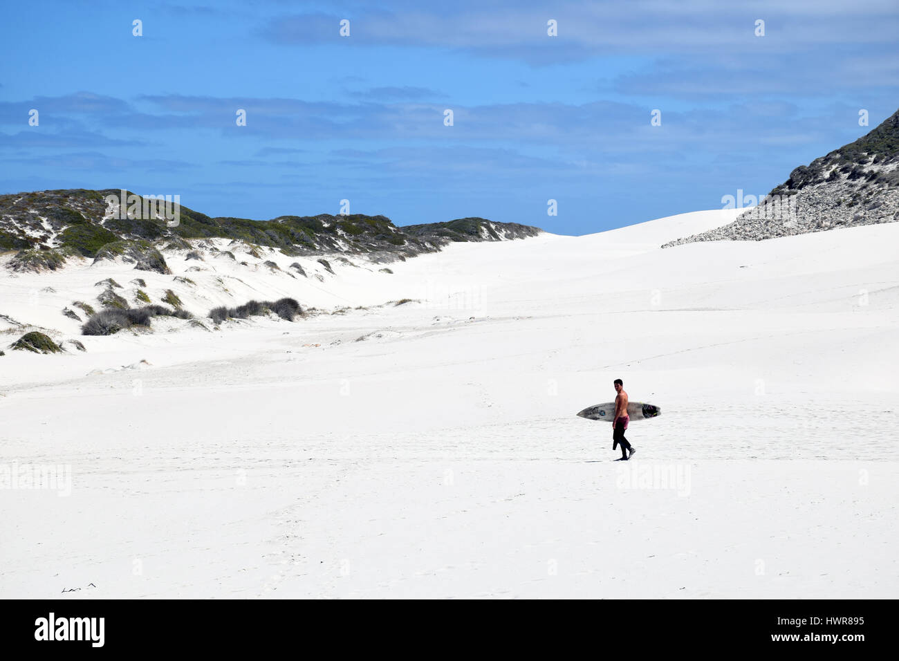 Beach near Cape Point, Western Cape, South Africa - Stock Image