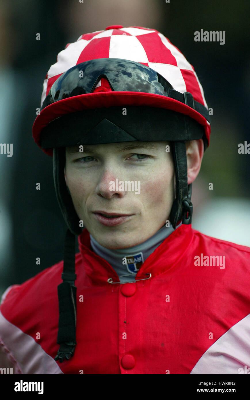 JAMIE SPENCER JOCKEY YORK RACECOURSE YORK ENGLAND 15 May 2005 - Stock Image