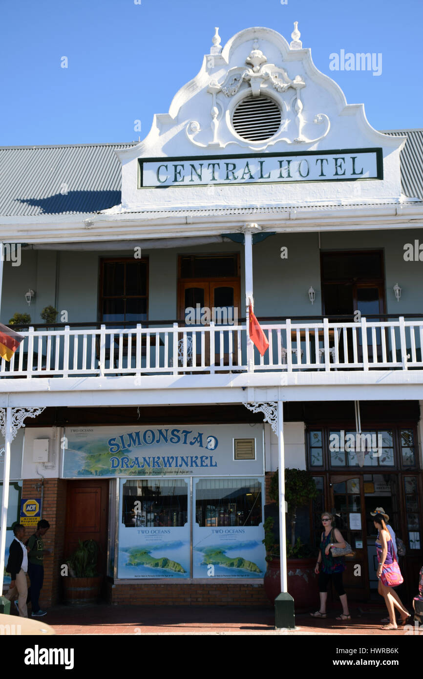 Central Hotel, Simon's Town, Western Cape, South Africa - Stock Image