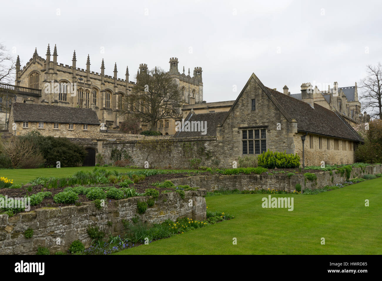 Glorious Cotswold buildings throughout the ages. - Stock Image