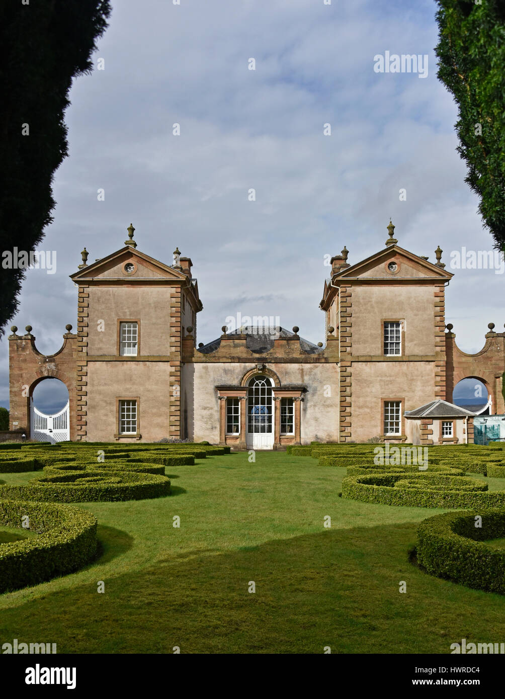 Former Hunting Lodge. Chatelherault Country Park, Ferniegair, Hamilton, South Lanarkshire, Scotland, United Kingdom, - Stock Image