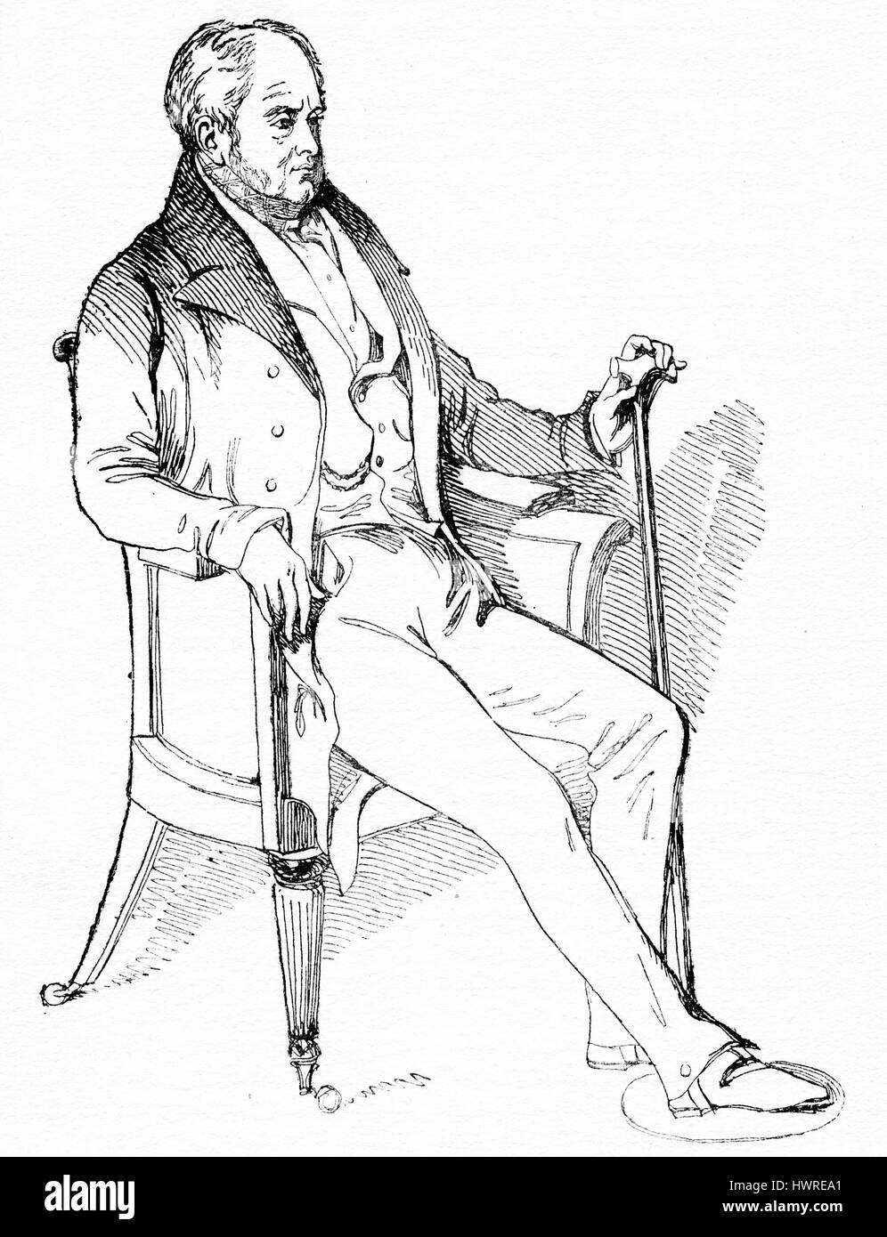 James Smith (10 February 1775 – 24 December 1839), English writer and humourist - Stock Image