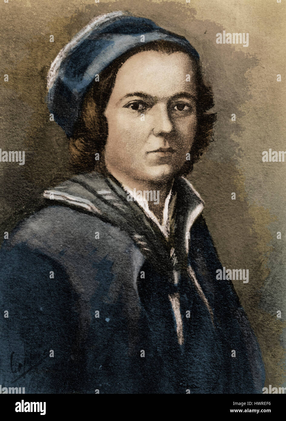Jean Jacques Rousseau Portrait As Young Swiss French