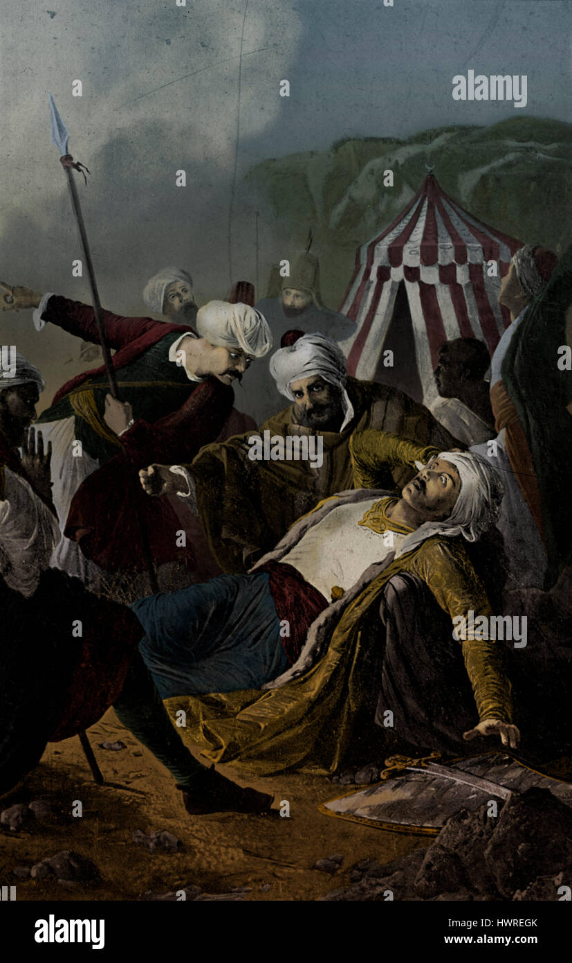 death of dragut at seige of malta after painting by giuseppe cali