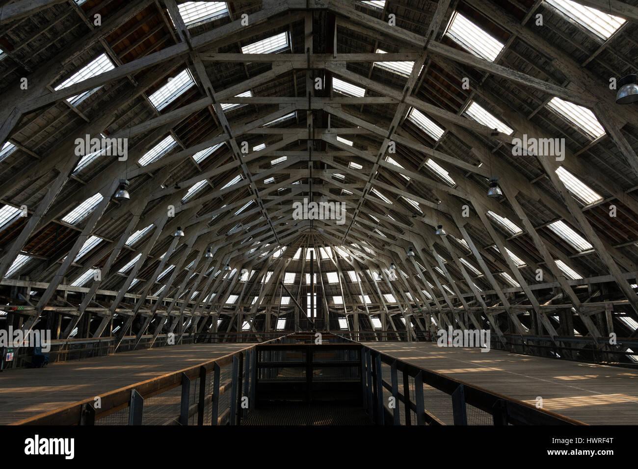 The rope making factory at Chatham historic dockyard, Kent, UK - Stock Image