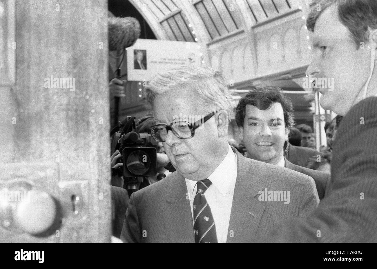 Rt. Hon. Sir Geoffrey Howe, Leader of the House of Commons and Conservative party Member of Parliament for Reigate, - Stock Image