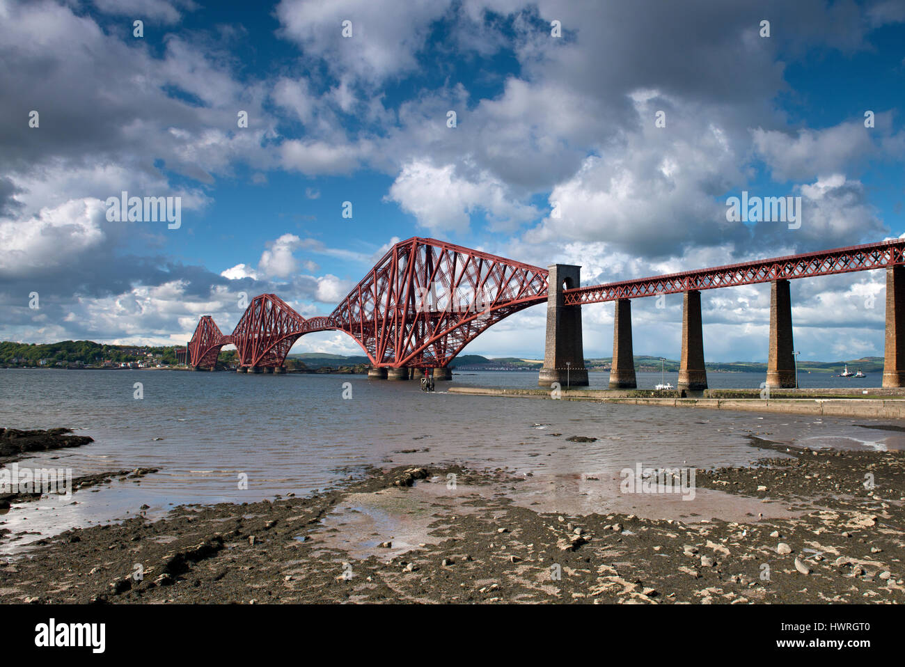Forth Rail Bridge, Edinburgh, Scotland, United Kingdom - Stock Image