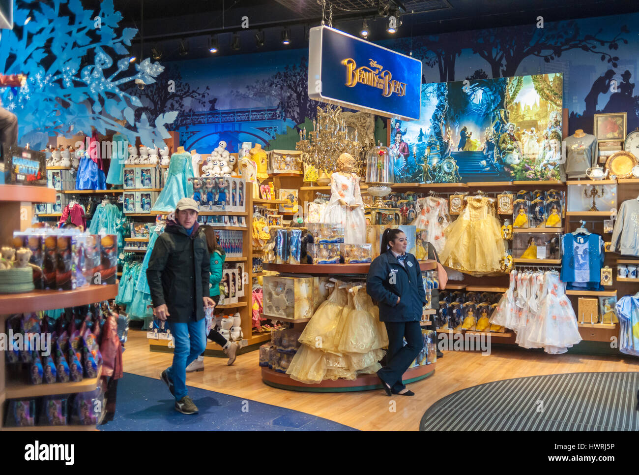 The Disney Store In Times Square In New York Promotes Merchandise Stock Photo Alamy