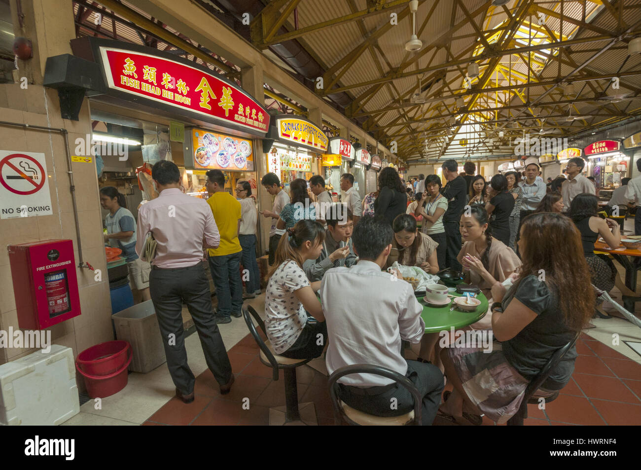 Singapore, Chinatown, food court - Stock Image