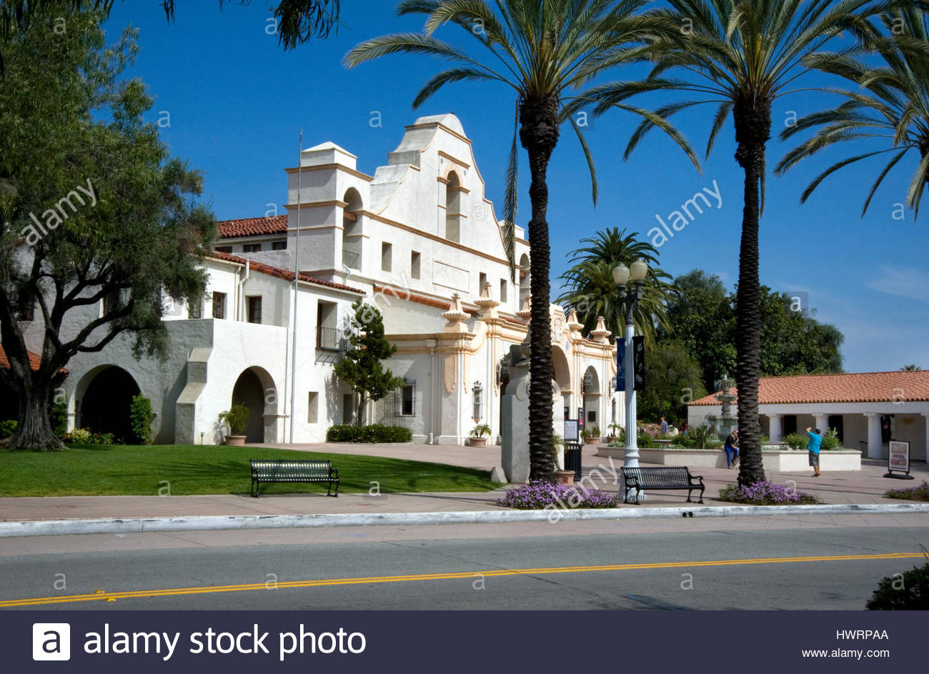 The Mission Play Theater built in 1922 in San Gabriel, California Stock Photo