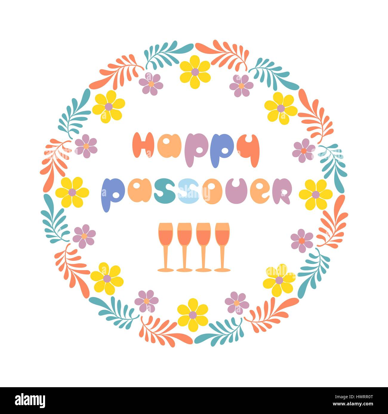 Happy Passover card. - Stock Image
