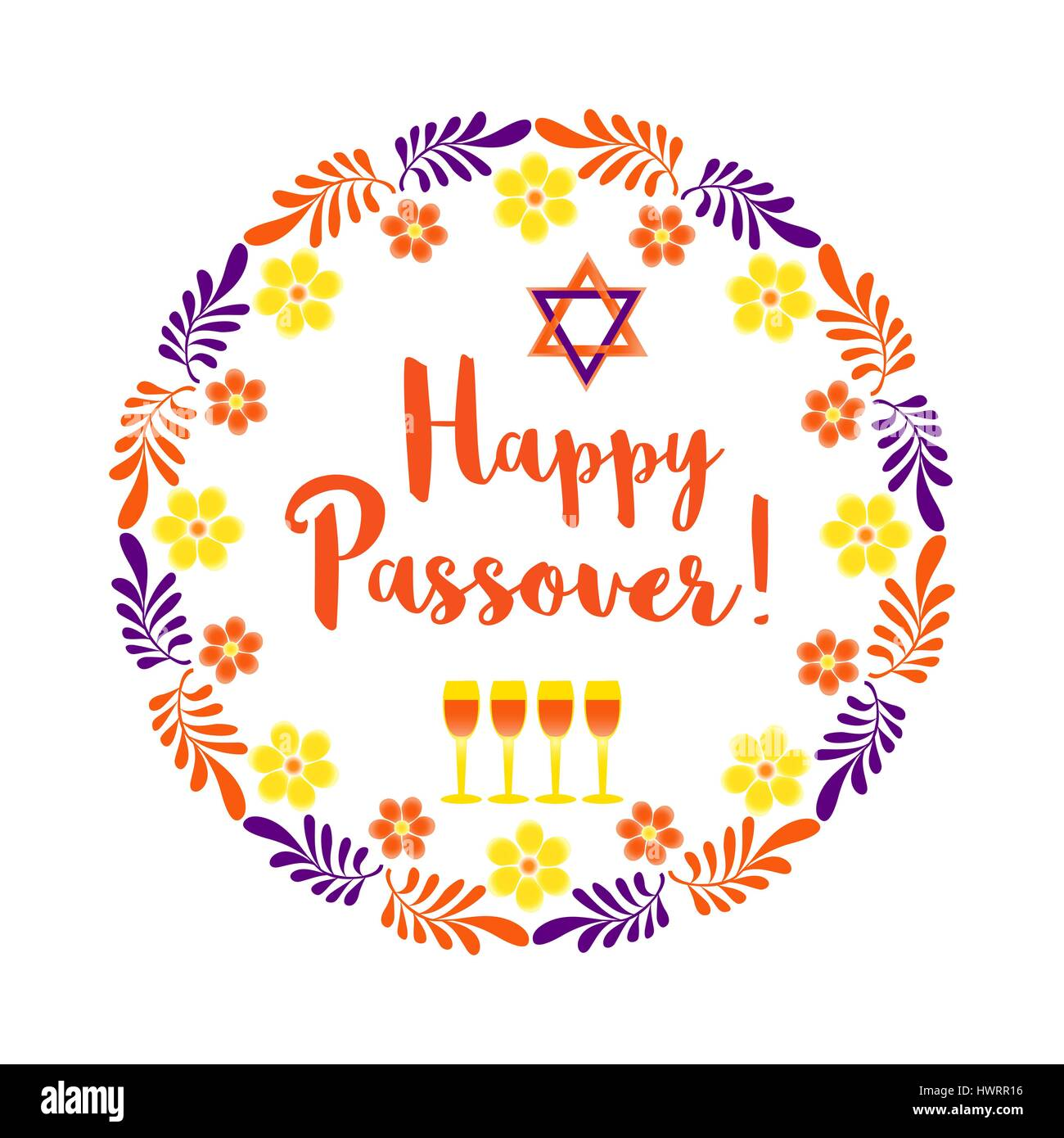 happy passover card stock vector art & illustration, vector image