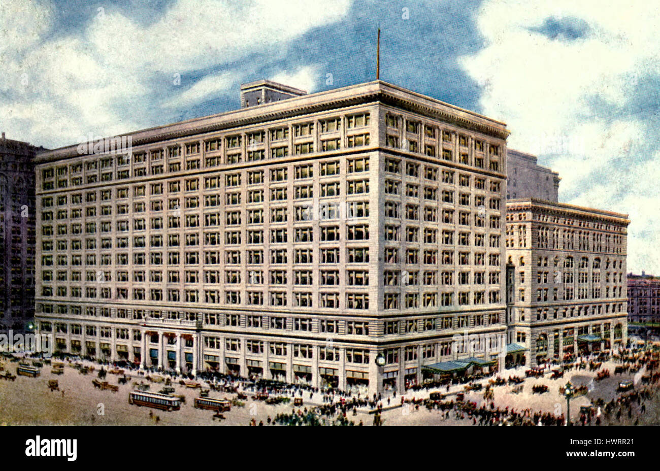 Marshall Field and Company - State Street Front, Chicago, circa 1907 - Stock Image