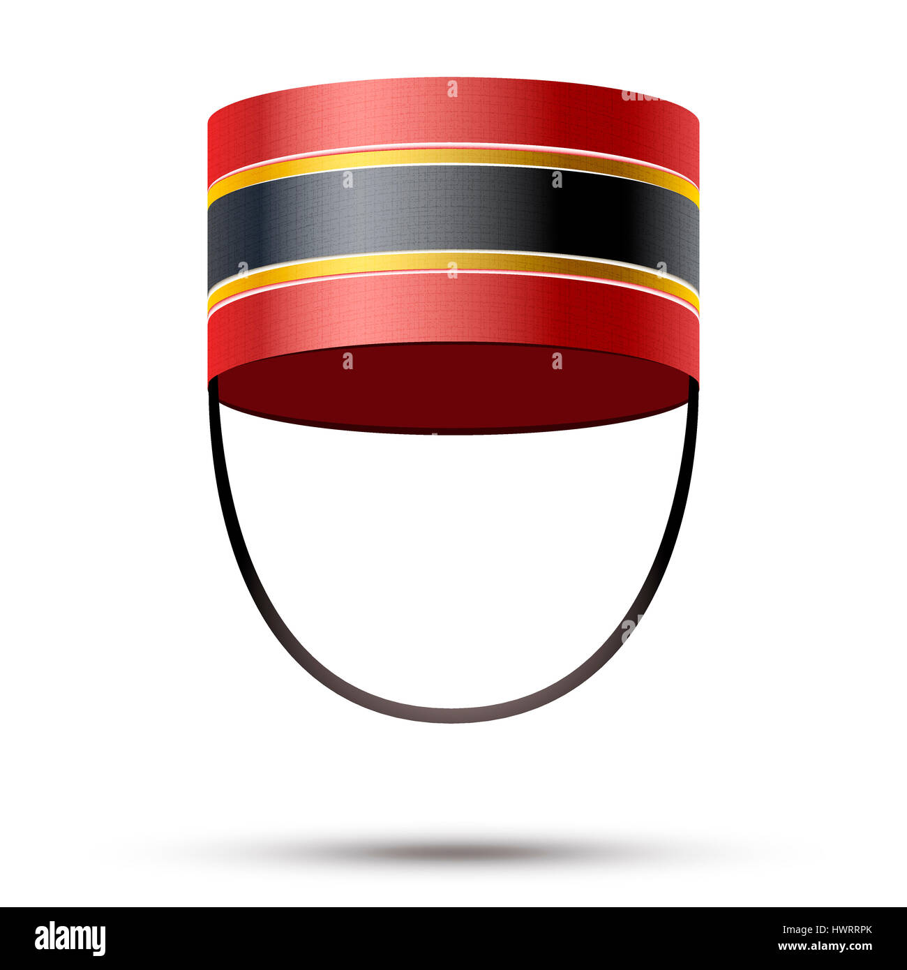 Bellboy Hat. Hotel resort service symbol.  Illustration isolated on a white background. - Stock Image