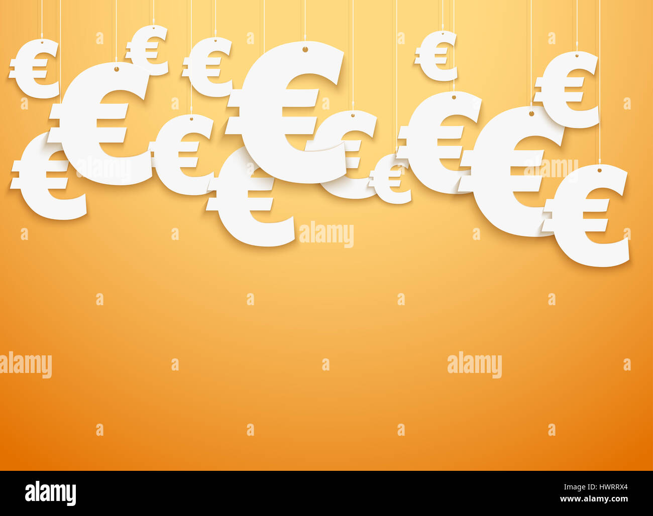 Bright Background Of Hung Symbols Euro With Space For Text Banking
