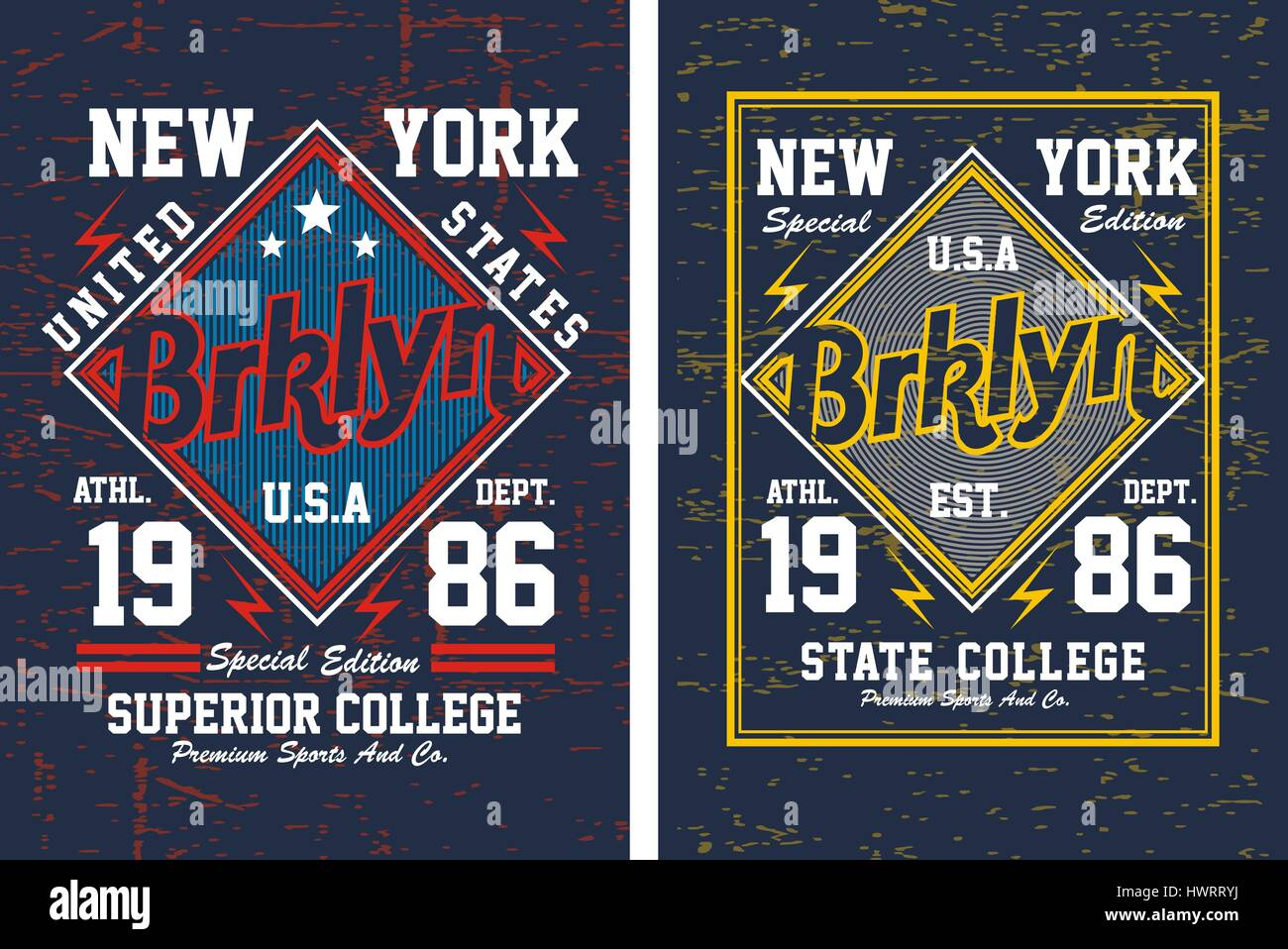 0440b79b Typography Design Brooklyn New York For Poster, T Shirt, Vector. - Stock  Image